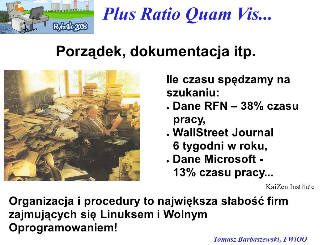 Tomasz Barbaszewski, FWiOO Plus Ratio Quam Vis... Porządek, dokumentacja itp.