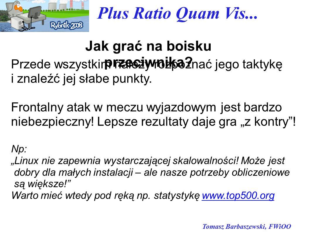 Tomasz Barbaszewski, FWiOO Plus Ratio Quam Vis... Jak grać na boisku przeciwnika.