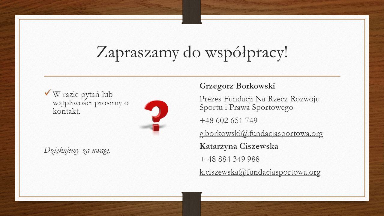 Zapraszamy do współpracy.W razie pytań lub wątpliwości prosimy o kontakt.