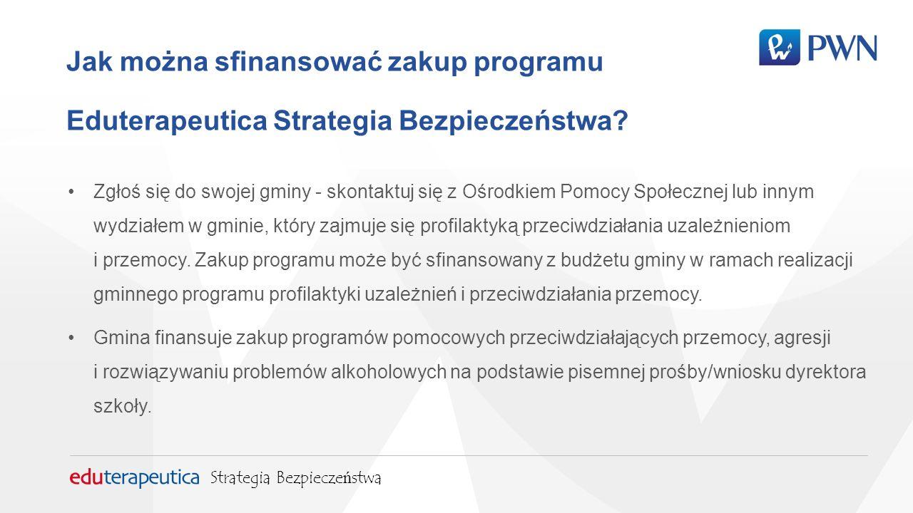 Jak można sfinansować zakup programu Eduterapeutica Strategia Bezpieczeństwa.