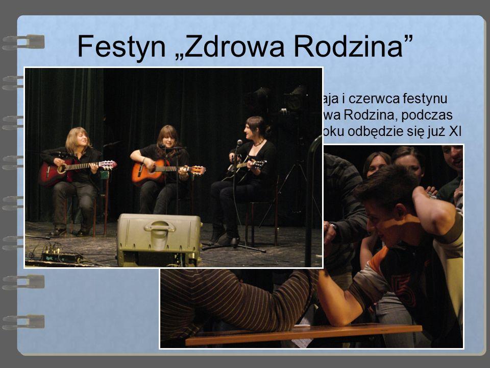 """Festyn """"Zdrowa Rodzina"""" Tradycją szkoły jest organizacja na przełomie maja i czerwca festynu dla mieszkańców Boguszowa-Gorc festynu Zdrowa Rodzina, po"""