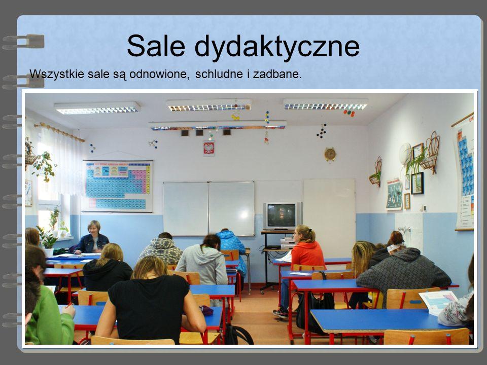 Sale dydaktyczne Wszystkie sale są odnowione, schludne i zadbane.