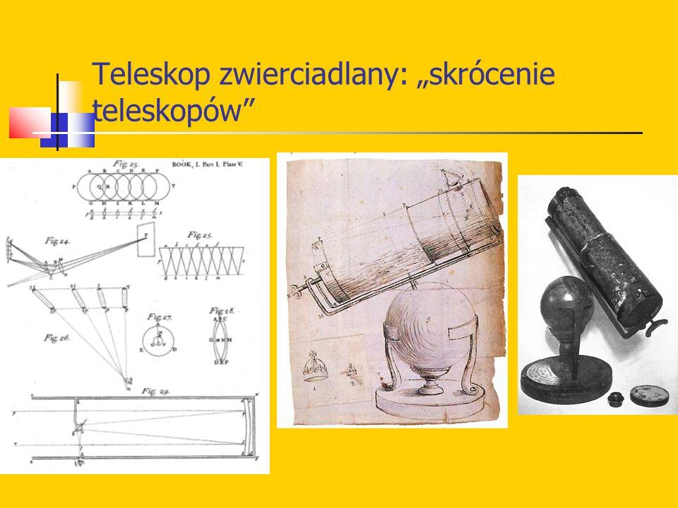 """Teleskop zwierciadlany: """"skrócenie teleskopów"""""""