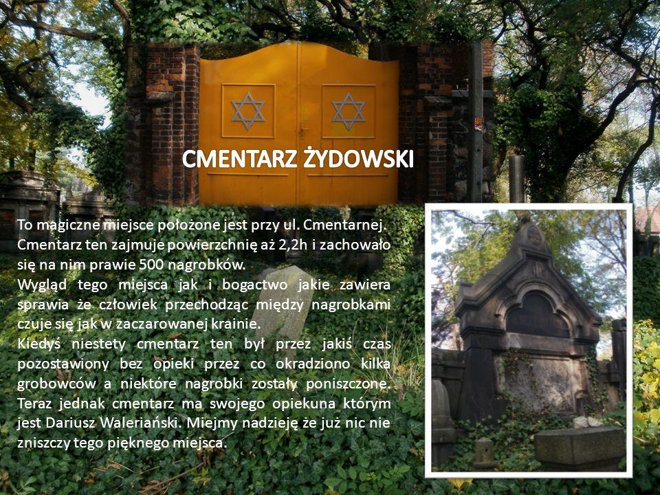 To magiczne miejsce położone jest przy ul. Cmentarnej. Cmentarz ten zajmuje powierzchnię aż 2,2h i zachowało się na nim prawie 500 nagrobków. Wygląd t
