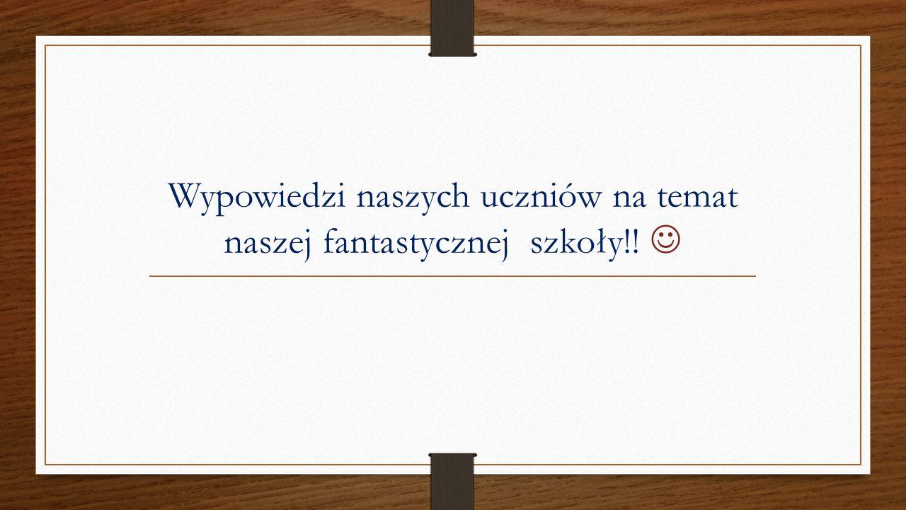 ,,Nasza szkoła jest mała i na wsi, ale każda szkoła w Olsztynie nie dorównuje naszej do pięt.