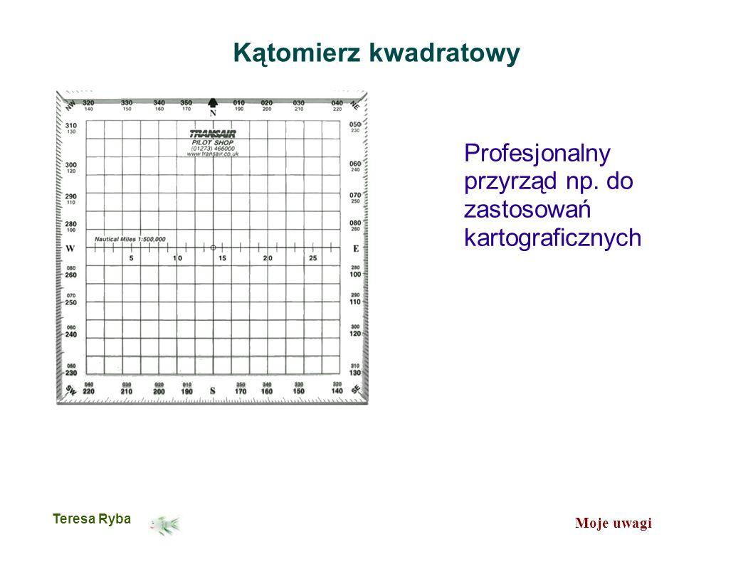 Moje uwagi Teresa Ryba Kątomierz kwadratowy Profesjonalny przyrząd np.