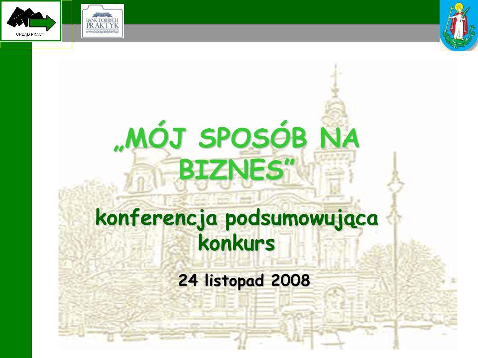 """MÓJ SPOSÓB NA BIZNES konferencja podsumowująca konkurs 24 listopad 2008"