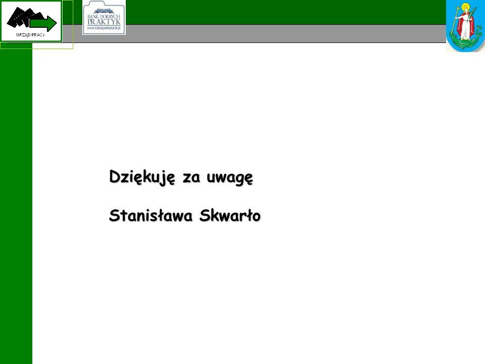 Dziękuję za uwagę Stanisława Skwarło