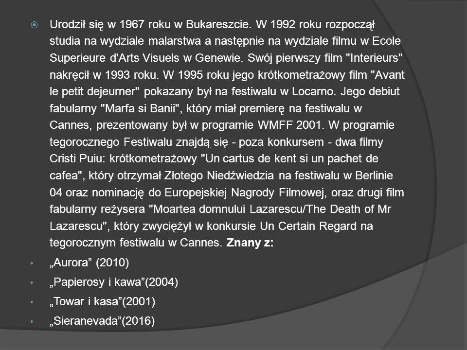  Urodził się w 1967 roku w Bukareszcie.