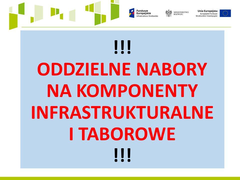 !!! ODDZIELNE NABORY NA KOMPONENTY INFRASTRUKTURALNE I TABOROWE !!!