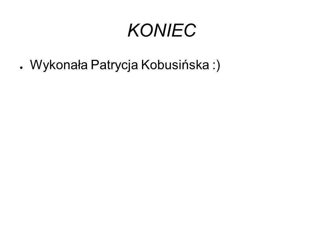 KONIEC ● Wykonała Patrycja Kobusińska :)