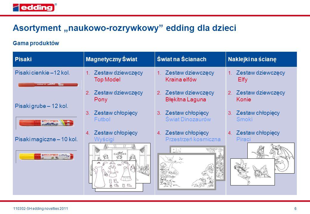 """110302-SH edding novelties 20116 Asortyment """"naukowo-rozrywkowy edding dla dzieci Pisaki cienkie –12 kol."""