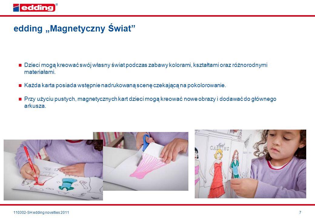 """110302-SH edding novelties 20117 edding """"Magnetyczny Świat Dzieci mogą kreować swój własny świat podczas zabawy kolorami, kształtami oraz różnorodnymi materiałami."""