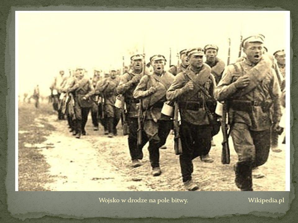 Wojsko w drodze na pole bitwy. Wikipedia.pl