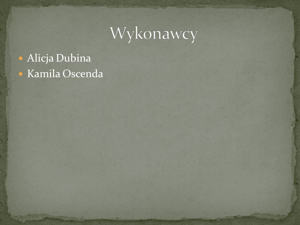 Alicja Dubina Kamila Oscenda