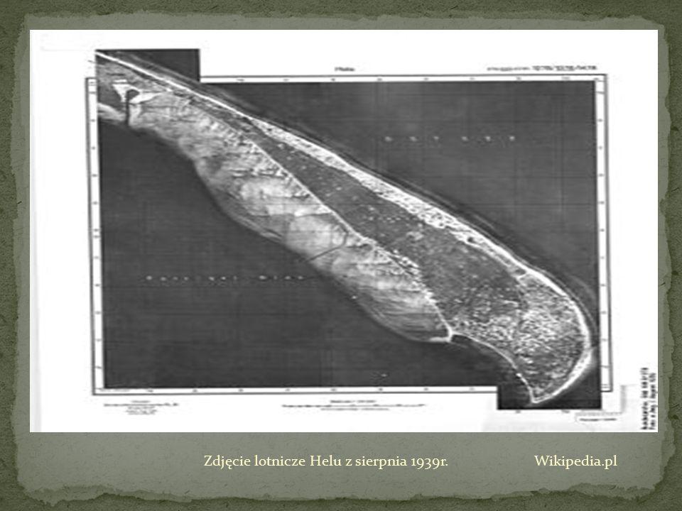 Zdjęcie lotnicze Helu z sierpnia 1939r. Wikipedia.pl