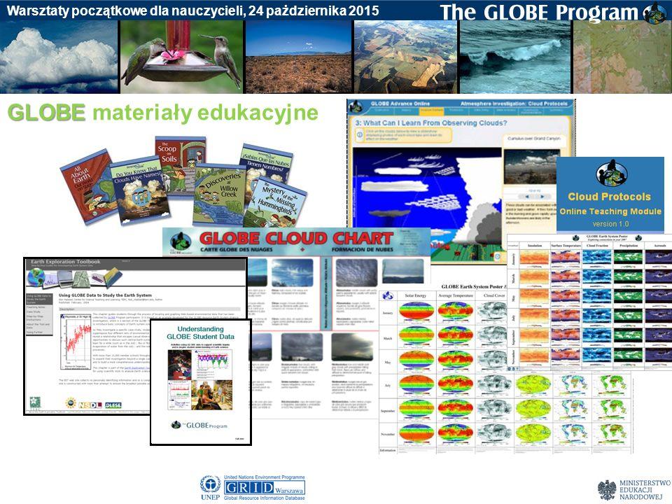 Badania gleby Warsztaty początkowe dla nauczycieli, 24 pażdziernika 2015 GLOBE GLOBE materiały edukacyjne