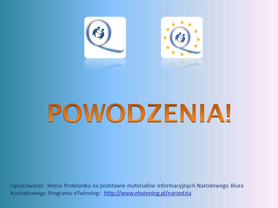 Opracowanie: Teresa Prokowska na podstawie materiałów informacyjnych Narodowego Biura Kontaktowego Programu eTwinning: http://www.etwinning.pl/narzedziahttp://www.etwinning.pl/narzedzia