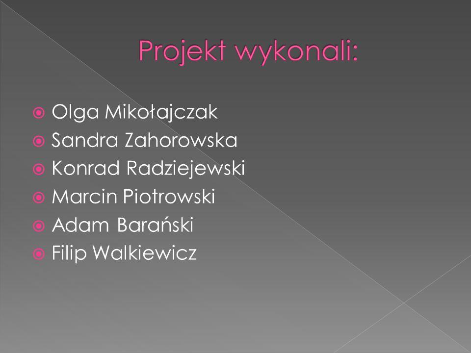  Olga Mikołajczak  Sandra Zahorowska  Konrad Radziejewski  Marcin Piotrowski  Adam Barański  Filip Walkiewicz