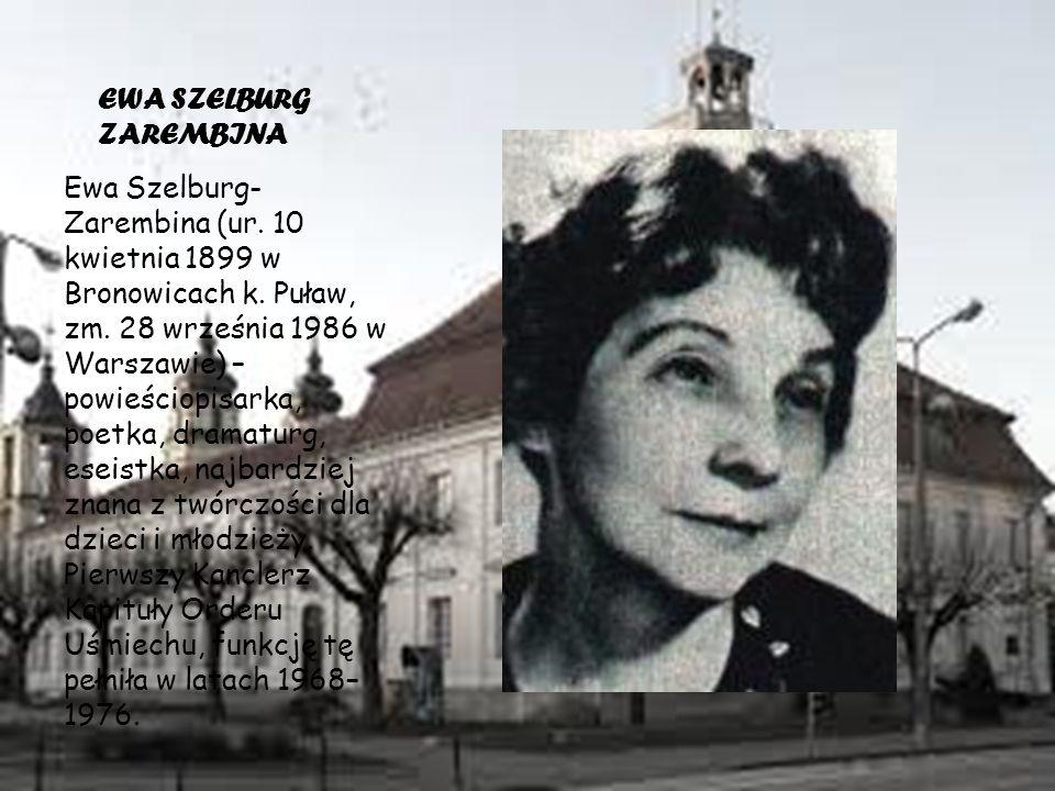 EWA SZELBURG ZAREMBINA Ewa Szelburg- Zarembina (ur.