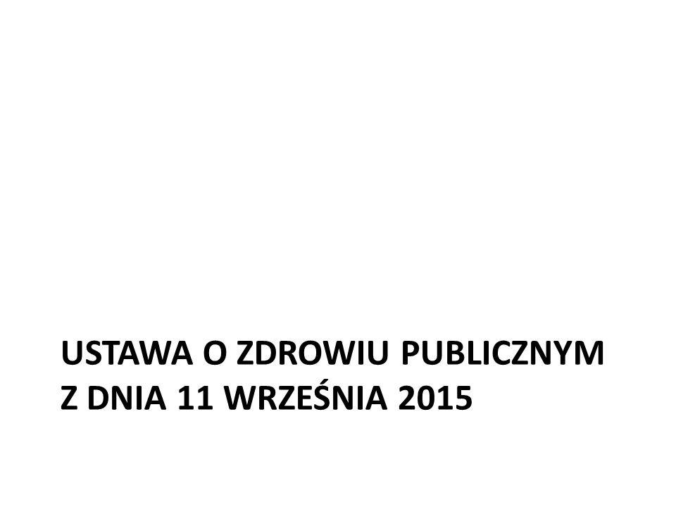 USTAWA O ZDROWIU PUBLICZNYM Z DNIA 11 WRZEŚNIA 2015