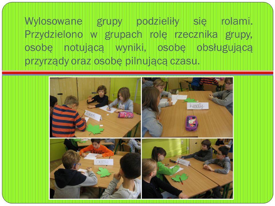 Wylosowane grupy podzieliły się rolami.