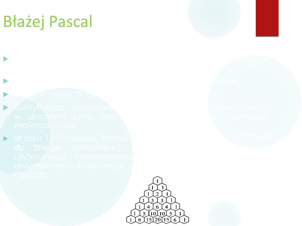 Błażej Pascal  Z tego okresu jego życia pochodzą dwa najbardziej znane dzieła Pascala: Prowincjałki i Myśli.  Przez całe życie borykał się z problem
