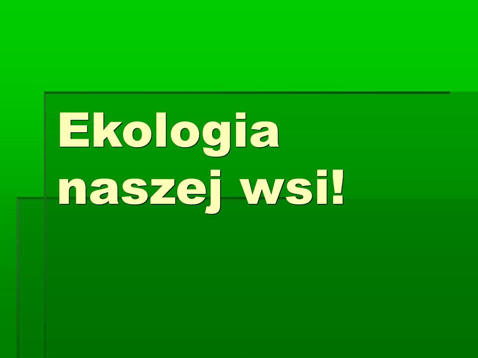 Ekologia naszej wsi!