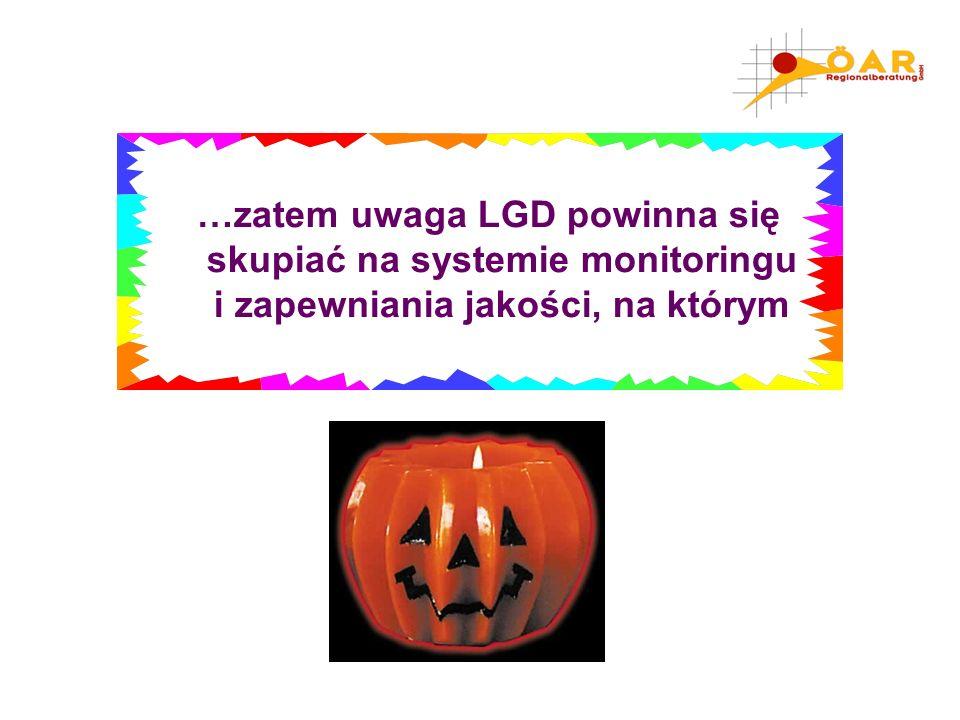 …zatem uwaga LGD powinna się skupiać na systemie monitoringu i zapewniania jakości, na którym