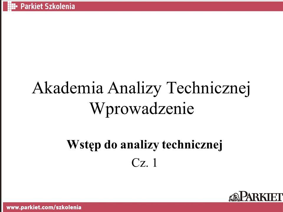 Akademia Analizy Technicznej Wprowadzenie Wstęp do analizy technicznej Cz. 1