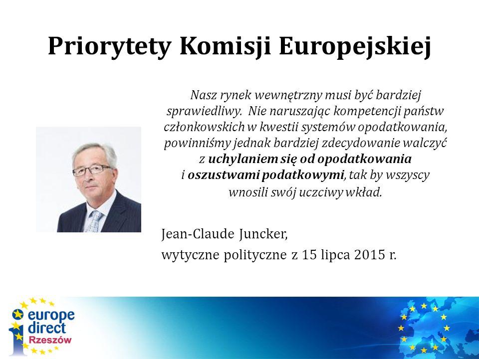 Priorytety Komisji Europejskiej Nasz rynek wewnętrzny musi być bardziej sprawiedliwy.