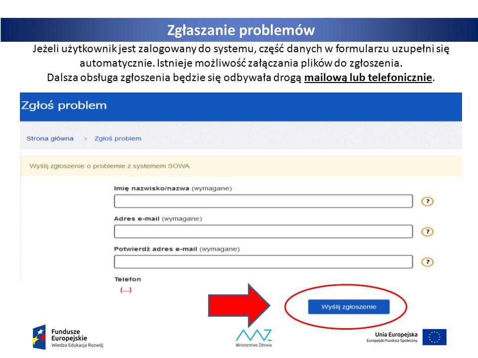 31 Jeżeli użytkownik jest zalogowany do systemu, część danych w formularzu uzupełni się automatycznie.
