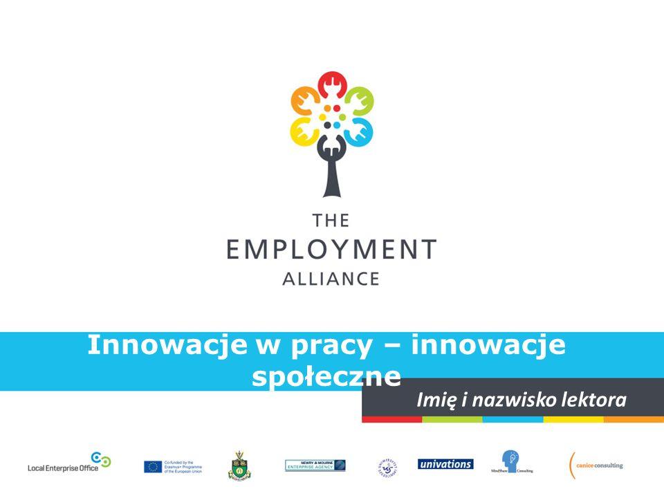 Innowacje w pracy – innowacje społeczne Cele kształcenia  Część 1.: JAKIE JEST ZNACZENIE innowacji społecznych.