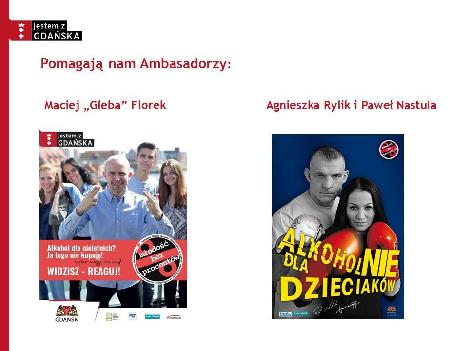 """Maciej """"Gleba"""" Florek Agnieszka Rylik i Paweł Nastula Pomagają nam Ambasadorzy :"""