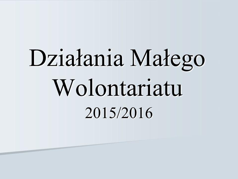 Działania Małego Wolontariatu 2015/2016