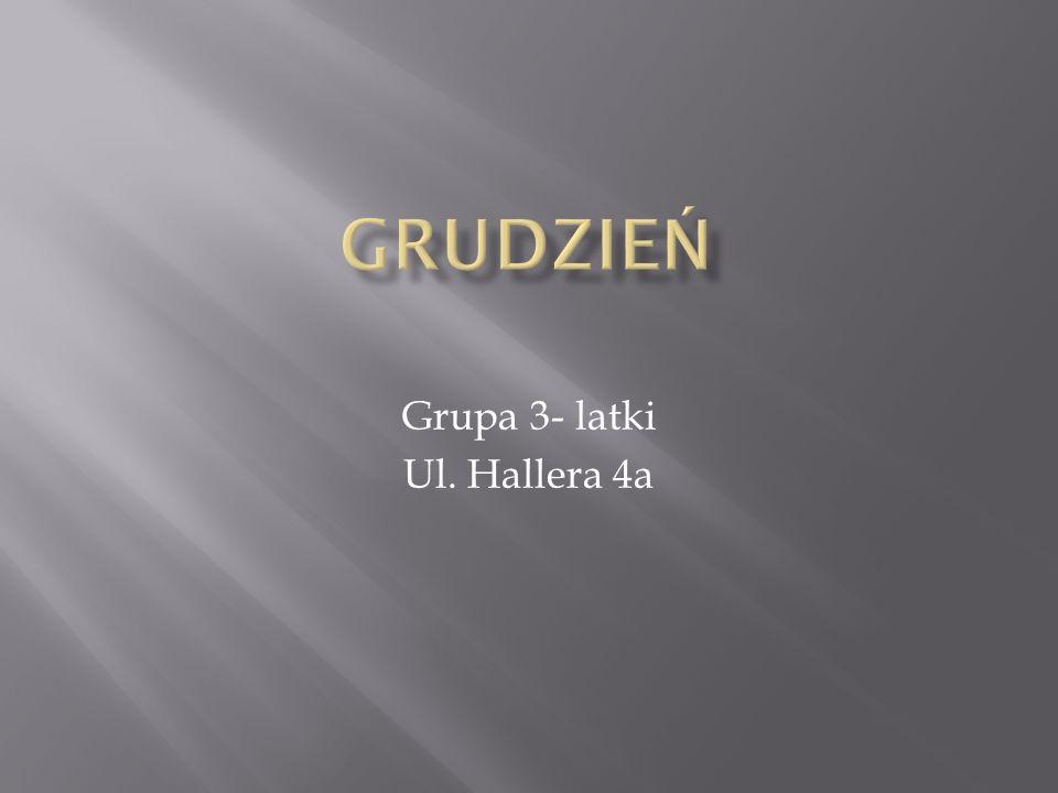 Grupa 3- latki Ul. Hallera 4a