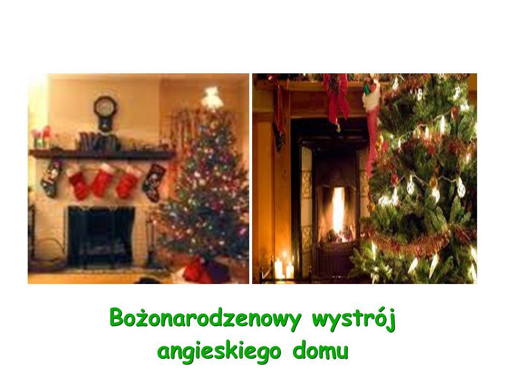 Bożonarodzenowy wystrój angieskiego domu