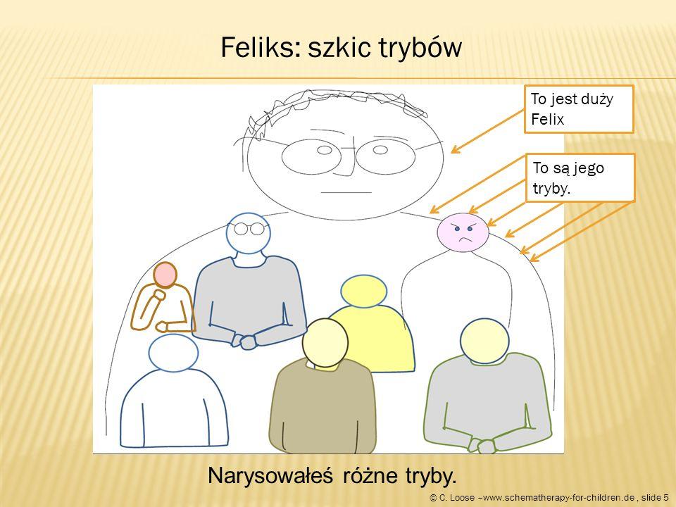 Teraz kiedy mamy obraz wszystkich różnych stron Feliksa, Felix wybiera pacynkę dla każdego trybu.