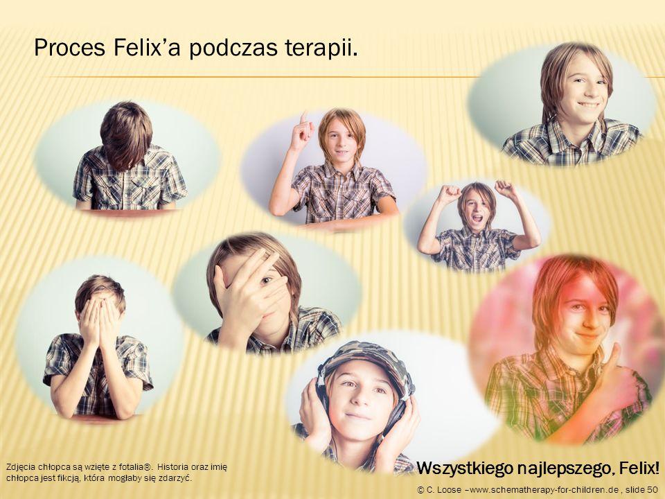 Proces Felix'a podczas terapii. Zdjęcia chłopca są wzięte z fotalia®.