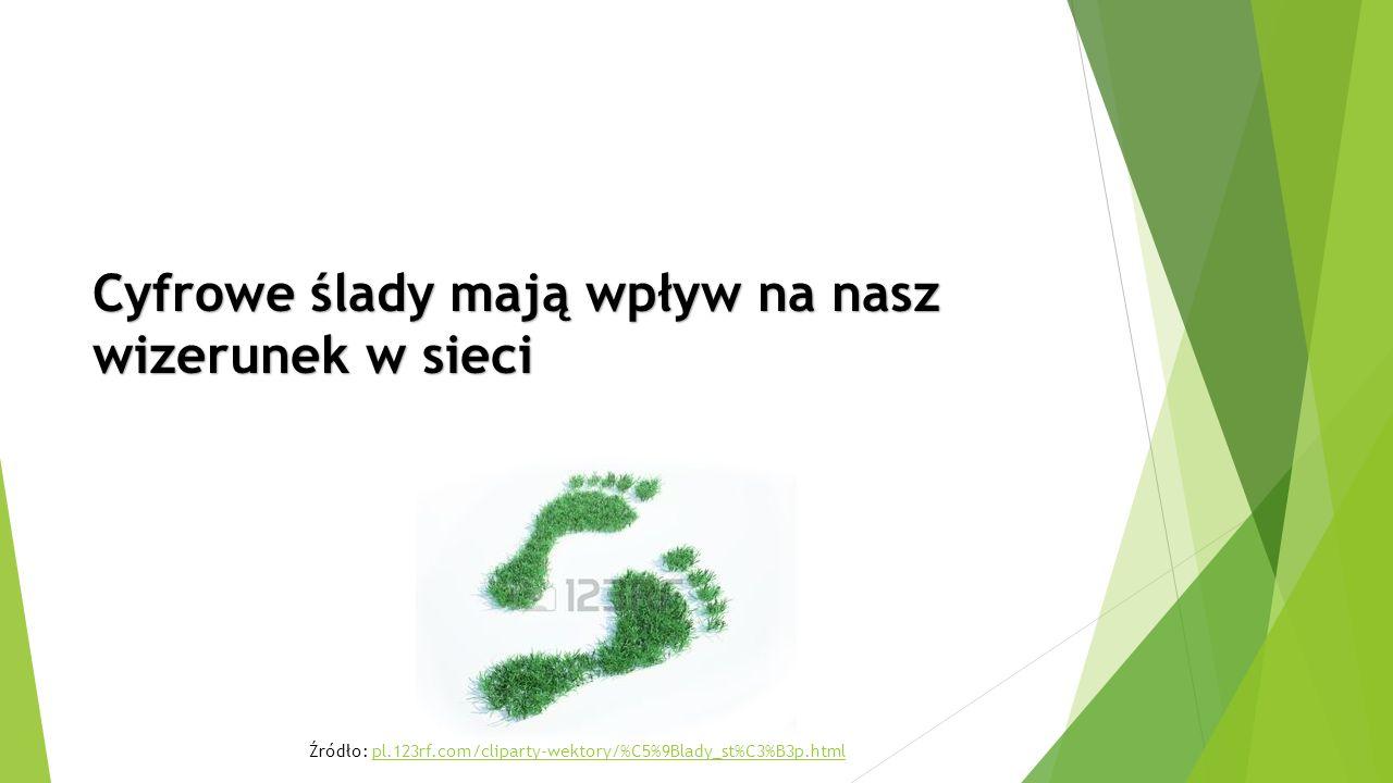 Cyfrowe ślady mają wpływ na nasz wizerunek w sieci Źródło: pl.123rf.com/cliparty-wektory/%C5%9Blady_st%C3%B3p.htmlpl.123rf.com/cliparty-wektory/%C5%9Blady_st%C3%B3p.html