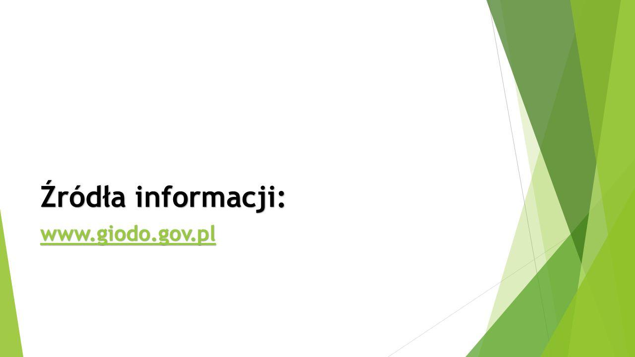 Źródła informacji: www.giodo.gov.pl