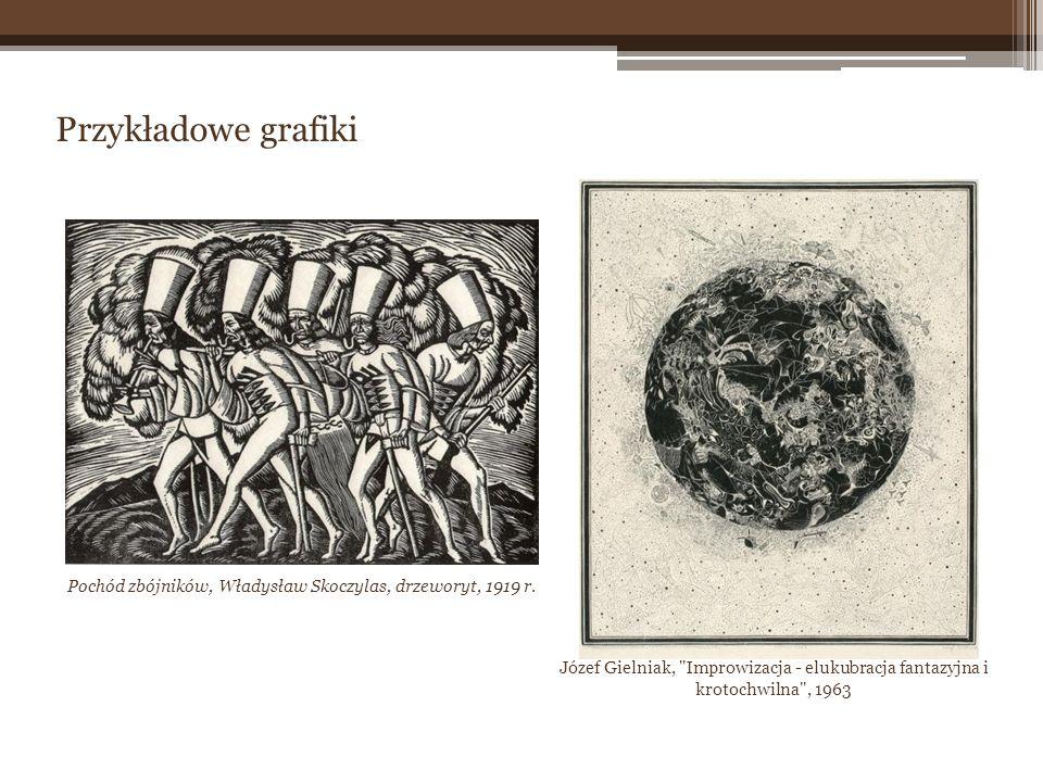 Przykładowe grafiki Pochód zbójników, Władysław Skoczylas, drzeworyt, 1919 r. Józef Gielniak,