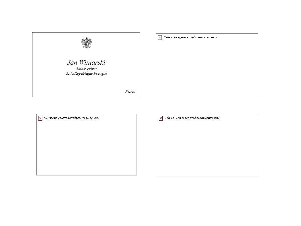 W wielu krajach bilety wizytowe z dopiskiem p.f.n.a. składa się premierowi i ministrowi spraw zagranicznych z okazji Nowego Roku.