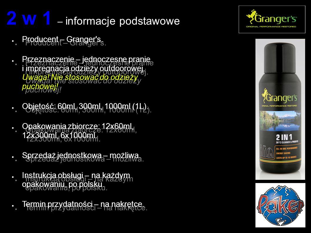 2 w 1 – informacje podstawowe ● Producent – Granger s.
