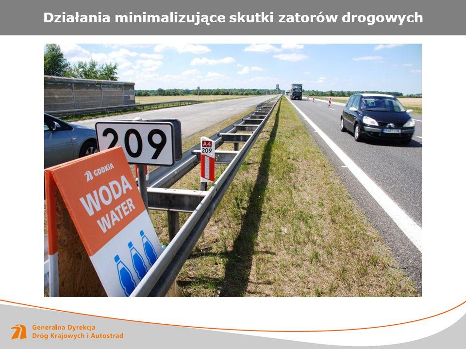 Działania minimalizujące skutki zatorów drogowych