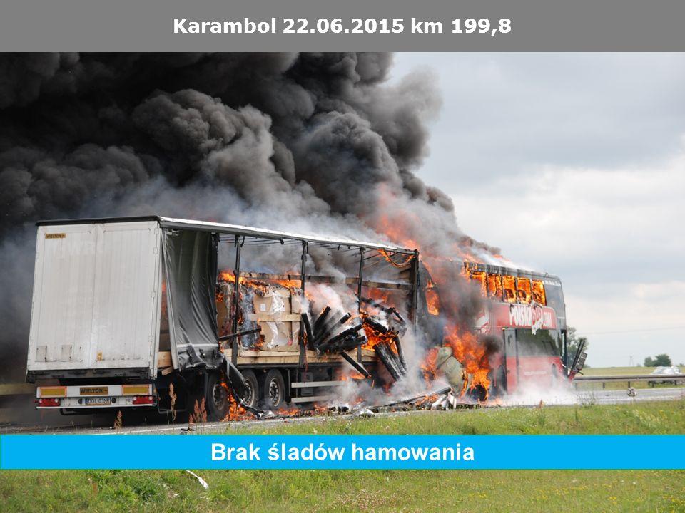Karambol 22.06.2015 km 199,8 Brak śladów hamowania