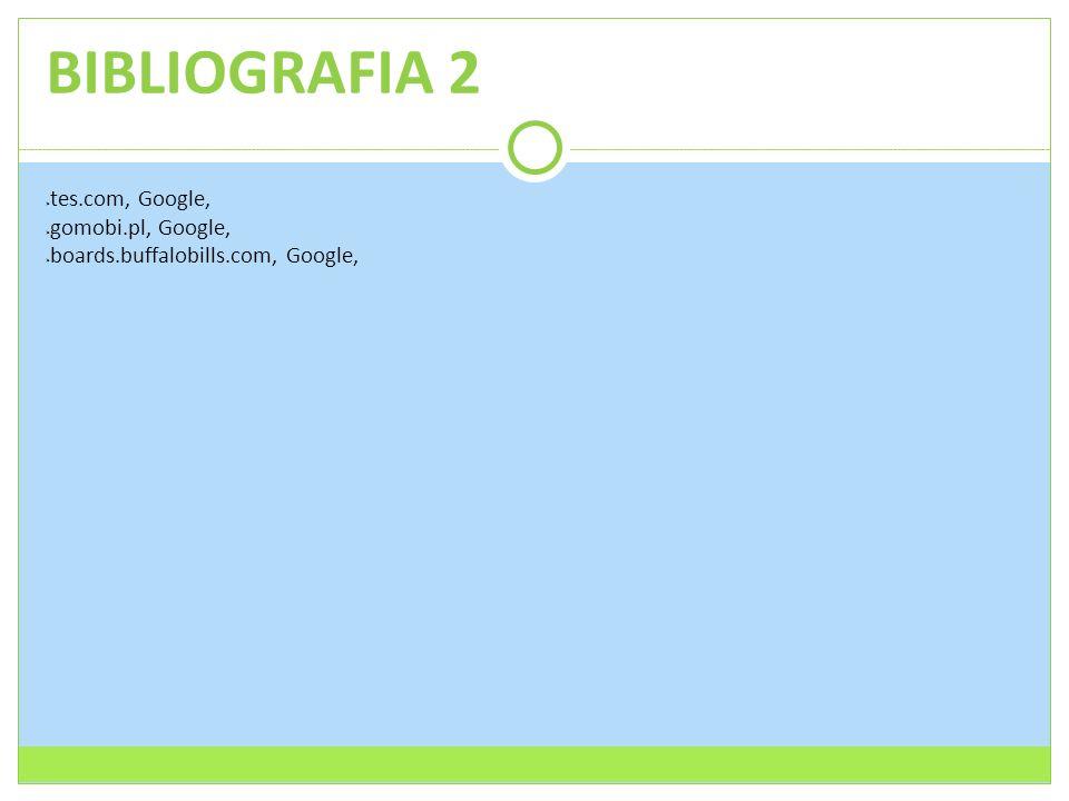 BIBLIOGRAFIA 2  tes.com, Google,  gomobi.pl, Google,  boards.buffalobills.com, Google,