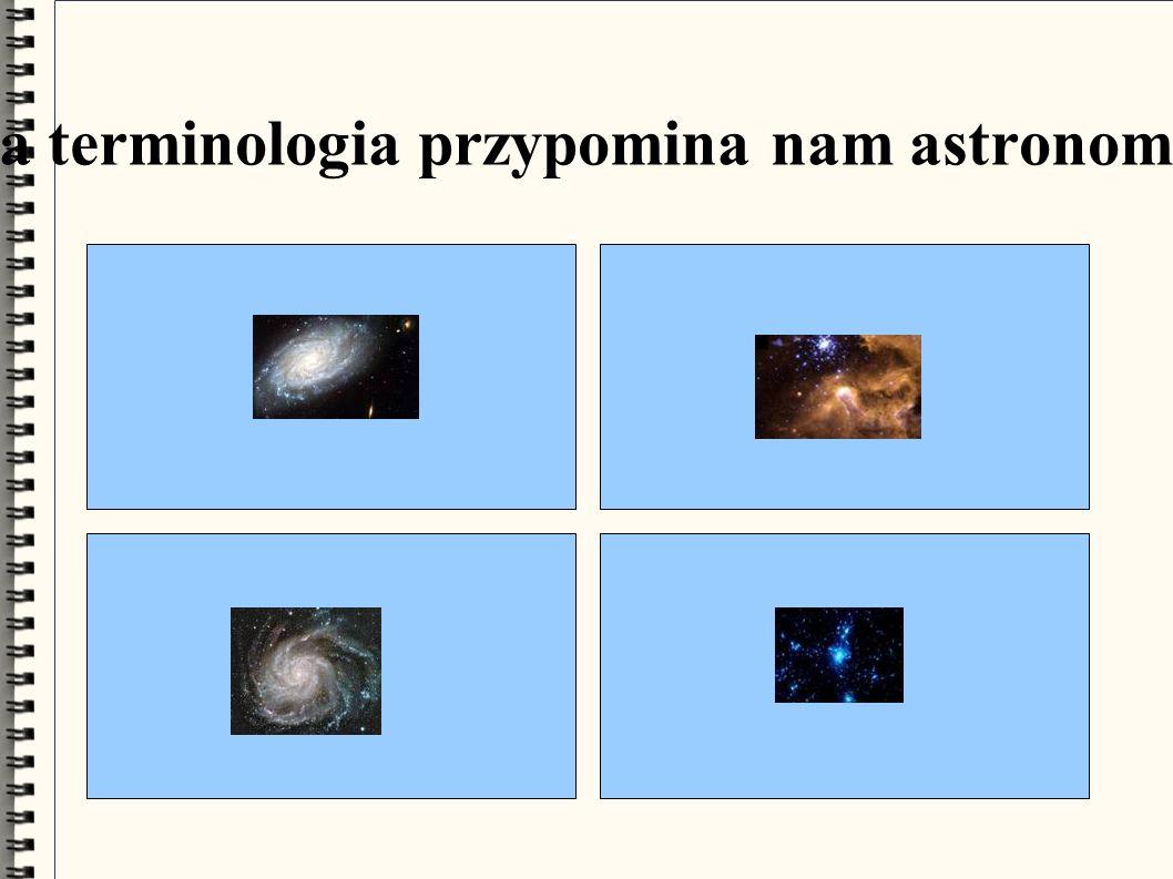Ta terminologia przypomina nam astronomię