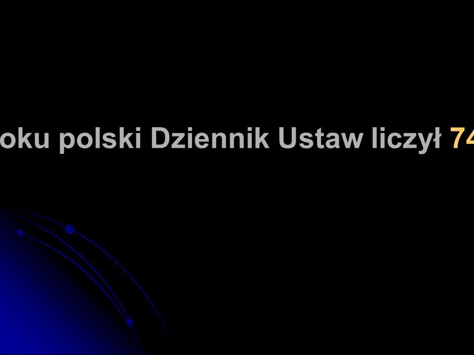 W 2000 roku polski Dziennik Ustaw liczył 7405 stron.