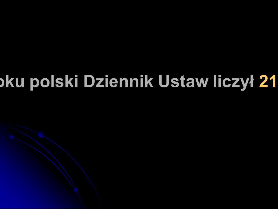 W 2004 roku polski Dziennik Ustaw liczył 21302 stron.